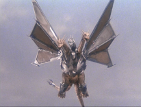 King Ghidorah is repaired with bionic parts.